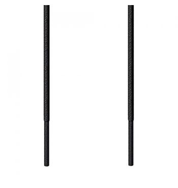 Kορδόνι Κερωμένο Στρογγυλό Λεπτό Μαύρο