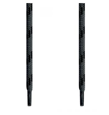 Κορδόνι Ενισχυμένο Στρογγυλό Γκρι/Μαύρο